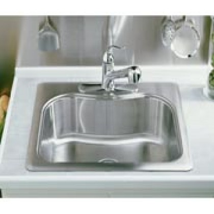 KOHLER TOCCATA SINGLE-BASIN SELF-RIMMING KITCHEN SINK with KITCHEN ACCESSORIES