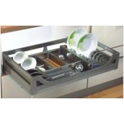 FOUR-SIDE STAINLESS STEEL MULTI-FUNCTIONAL DRAWER BASKET