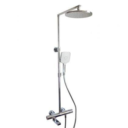 K-73111T-7-CP KOHLER COMPOSED THERMOSTATIC BATH AND DUAL SHOWER COLUMN