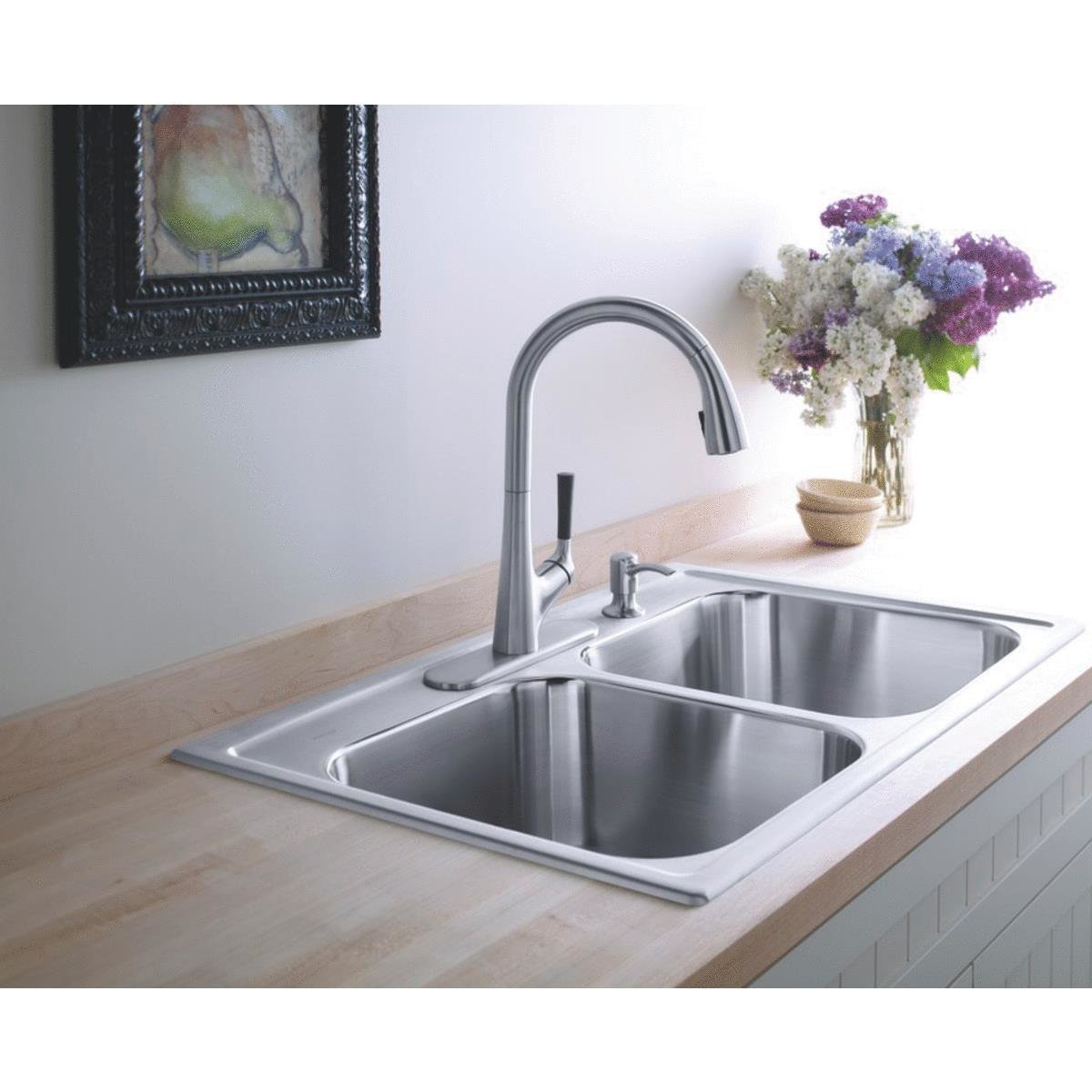 modern faucet kpf pull amazon kitchen down sink bathtub kraus single spouts stainless lever mateo dp steel canada
